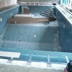 Swimming pool being designed and put together